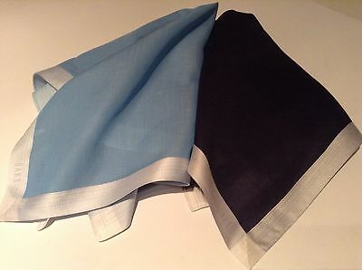 Daks Two Sets Handkerchief Pocket Square  by British Designer 100% cotton new