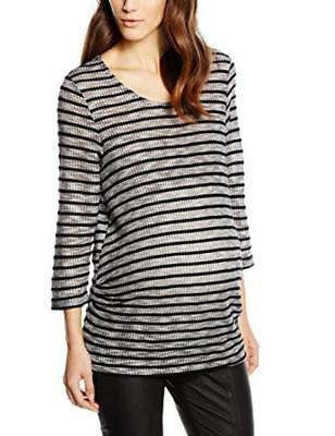 New Look Maternity Rope Stripe Camicia, Donna - NUOVO