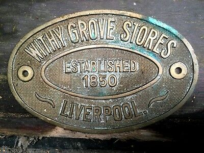Withy Grove Stores Liverpool Safe plaque - Est 1850