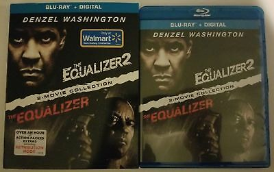 The Equalizer 2-Movie Blu Ray Collection + Slipcover Sleeve Walmart Exclusive