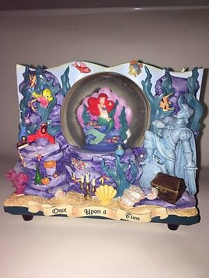 Disney Little Mermaid Storybook 2 Sided Snowglobe Great Condition!!!