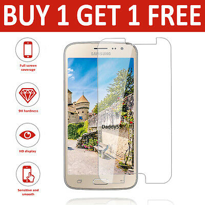 For Samsung Galaxy J3 2016 - Genuine Tempered Glass LCD Screen Protector - Clear