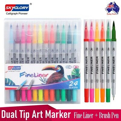 Faber-Castell 24 Watercolour Pencils Set Art Brush Art Colouring Drawing Pencils