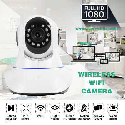 HD 1080P WIFI Wireless Pan Tilt Security IP LED Camera Webcam Night Vision Cam