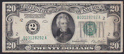 United States 20 Dollar 1928, Federal Rezerve Note, Series: B A