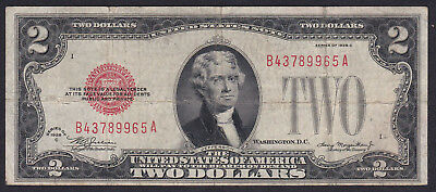 United States Notes 2 Dollar 1928, Series: B A