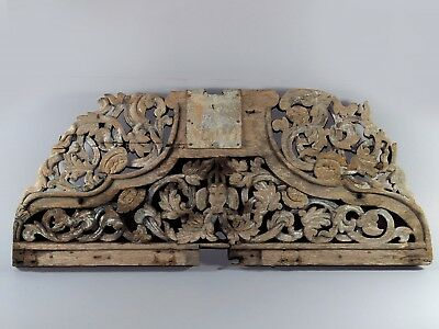 Beautiful Rare Antique Piece of Wood Carve From Thailand Temple SEE