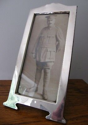 A Large Hallmarked Birmingham 1916 Solid Silver Photo Picture Frame 12""