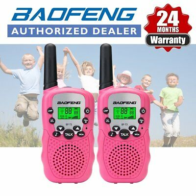 2x BAOFENG BF-T3 Mini Walkie Talkie Pink UHF 22CH Two Way Radio Xmas Gift