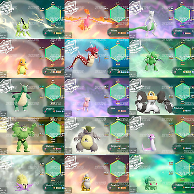 Pokemon Lets Go Pikachu & Eevee All 153 Shiny Pokemon 6IV Max AV Switch Battle