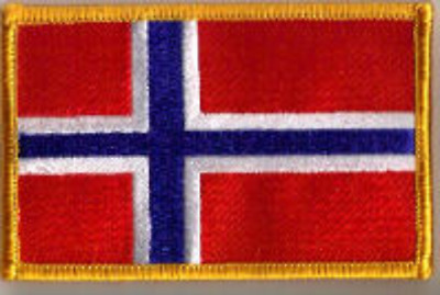 Norway Norwegian Country Flag Embroidered Patch T8