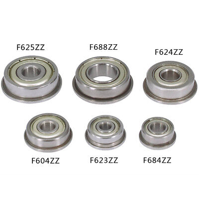 F604zz-F694zz Metal Mini Double Shielded Flanged Ball Bearing For 3D Printer CNC
