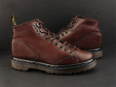Vintage Doc Dr Martens England Brown Leather Church Monkey Ankle Boots 7 7.5