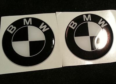 2 Stickers Resin Stickers 3D BMW r 80 black white 75 mm
