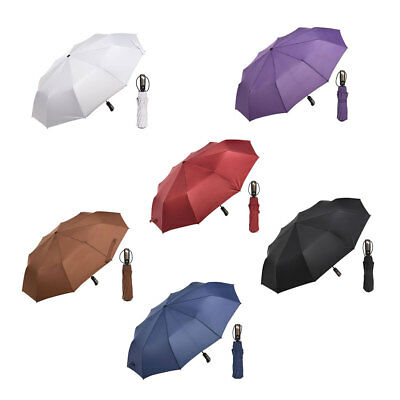 Compact Foldable10 Ribs Umbrella Reinforced Auto Open Close Waterproof Windproof