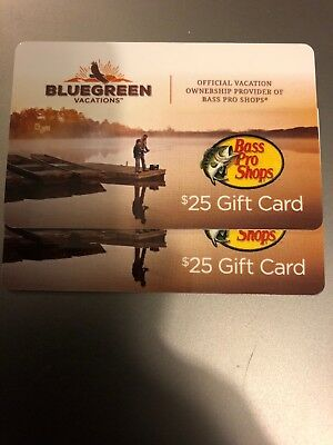 Two $25 Bass Pro Shops Gift Cards - $50 To Spend On Yourself Or Give As A Gift!