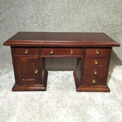 Vintage 1/12 Scale Miniatures Furniture Chair+ Desk Dollhouse Wooden HandCrafted