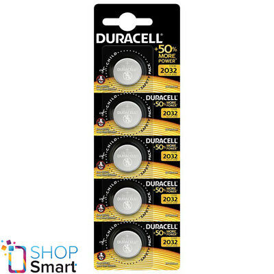 5 Duracell Cr2032 Lithium Batteries 3V Coin Cell Dl2032 Exp 2028 New