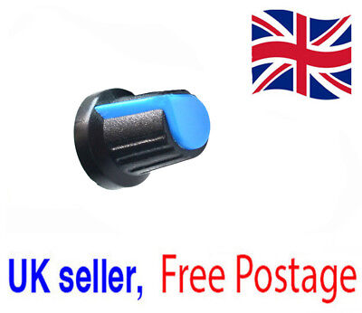 Blue Plastic Rotary Tapered Control Knob for Potentiometer 6mm Hole UK Seller