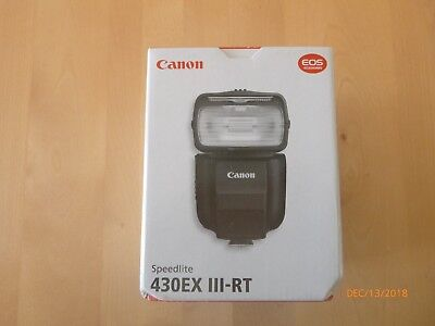 Canon Speedlite 430EX III-RT Speedlite Shoe Mount Flash for  Canon