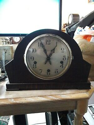 Enfield Westminster chime mantle clock with key. 1930s.