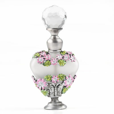 Vintage Manual Painting Crystal Butterfly Perfume Bottle Empty Refillable 5ml