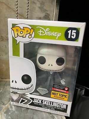 New Jack Skellington Diamond Disney Funko Pop Hot Topic EMP Exclusive