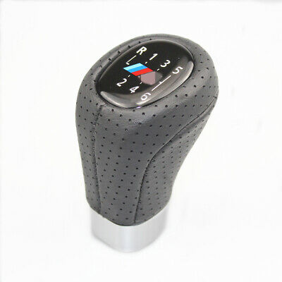 Gear Shift Knob M SPORT Leather 6 Speed For BMW1 3 Series E81 E82 E90 E91 E92
