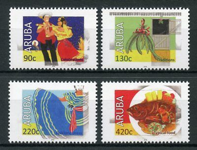 Aruba 2018 MNH Cultures & Traditions Dance 4v Set Dress Foods Gastronomy Stamps