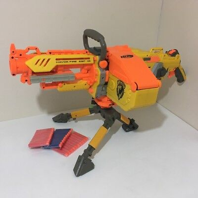 NERF N-Strike Havok Fire EBF-25. With Tripod and Ammo Belt, Box and Darts