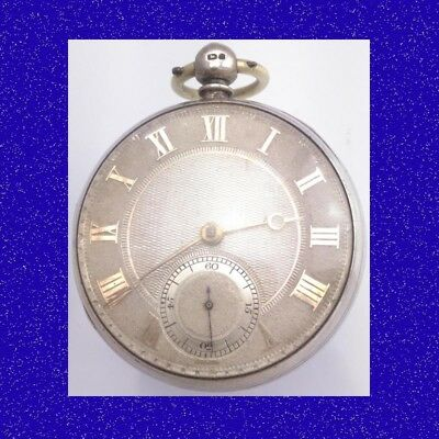 Substantial Silver Fusee Cylinder London Drum Cased Pocket Watch 1830