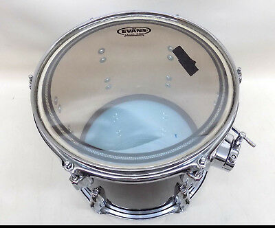 """Nice Tom Drum Percussion Instrument Maroon Red 12"""" x 10"""" w Evans Head"""