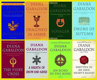 Outlander Set by Diana Gabaldon (Books 1-8 in Series) Larger Trade Paperback 9x6
