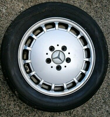 Mercedes 190e alloy wheel plus steel wheel