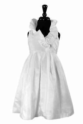 White Size 4 - Lille Couture® Hayden Flower Girl First Communion Dress - NEW