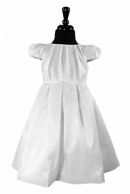White Size 4 - Lille Couture® Chelsea Flower Girl First Communion Dress - NEW