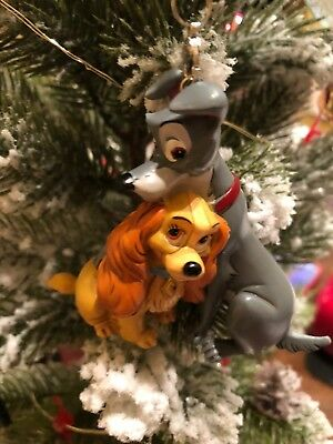 Disney Lady And The Tramp Christmas Tree Ornament Figurine New 2018