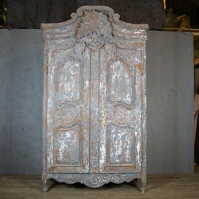 Beautiful, rare Antique French Armoire, Vintage, Painted