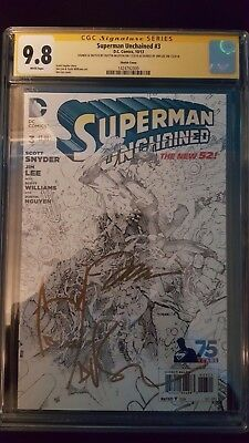 Superman Unchained #3 Sketch Variant Signed by Jim Lee and Dustin Nguyen