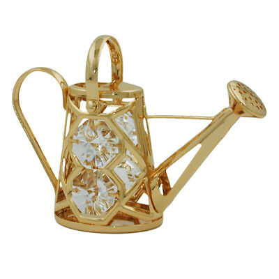 1 Lot of watering can with crystal elements gold plated