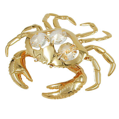 1 Lot of crab with crystal elements gold plated