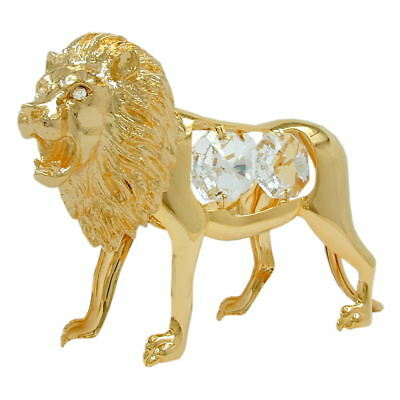1 Lot of lion with crystal elements gold plated