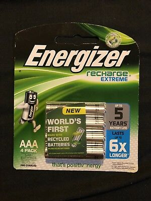 ENERGIZER 1 X Pack Of 4 Recharge Extreme 1.2V 800mAh AAA NIMH Batteries NEW
