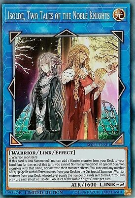 Yugioh Soul Fusion Se Sofu Isolde Two Tales Of Noble Knights Super Holo Promo