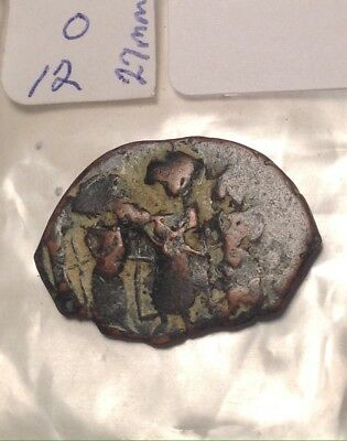 Ancient Byzantine 7th Century? Bronze 27mm Long 22mm High 3-cross Wild Nat Color
