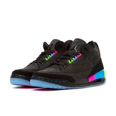 quality design 59663 a863d NIKE AIR JORDAN 3 Retro SE Quai 54 Mens Trainers Black ...