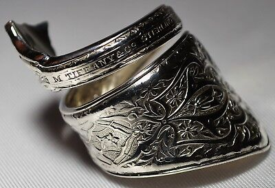 Antique 1872 TIFFANY & Co PERSIAN STERLING Spoon Ring  Free Ship Size 7 Teaspoon
