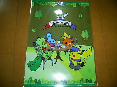 """Pokémon Cafe Clear File"" Male Female Pikachu Pokemon Center Shibuya"