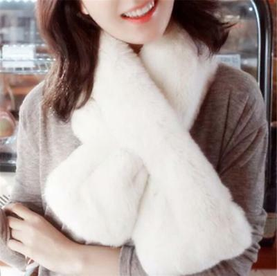 Central Chic Luxury Faux Fur Scarf Snood Winter Scarf Christmas