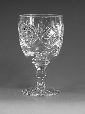 "GEORGIAN Crystal - CHATSWORTH Cut - Wine Glass / Glasses - 4 5/8"" (1st)"